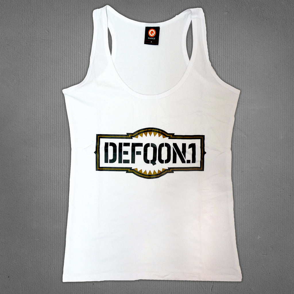 Defqon.1 tank top white gold, women