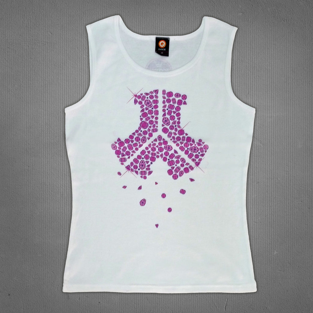 Defqon.1 tank top white diamonds, women