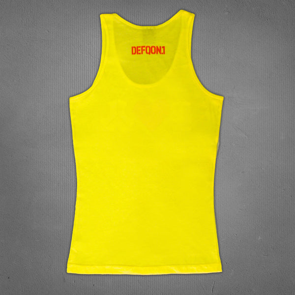 Defqon.1 love tank top yellow, women