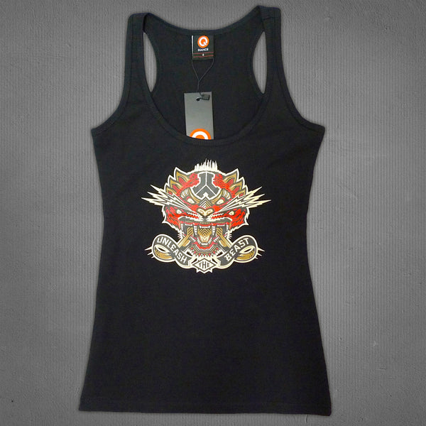 Defqon.1 tiger tank top black, women