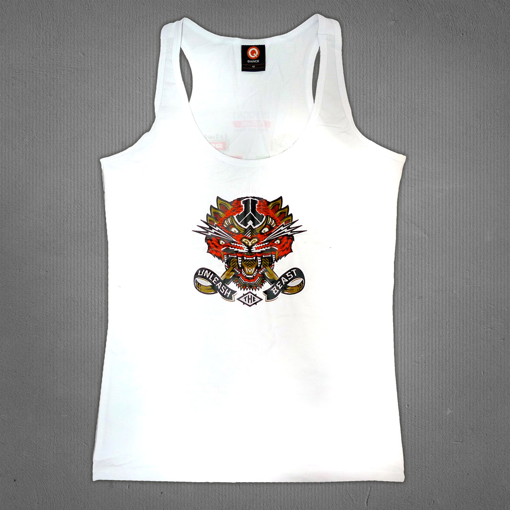 Defqon.1 2014 line-up tank top white, women