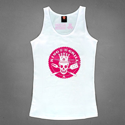 Defqon.1 king of the grill tank top white, women