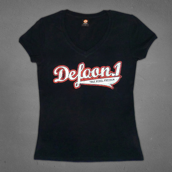 Defqon.1 V-neck t-shirt black, women
