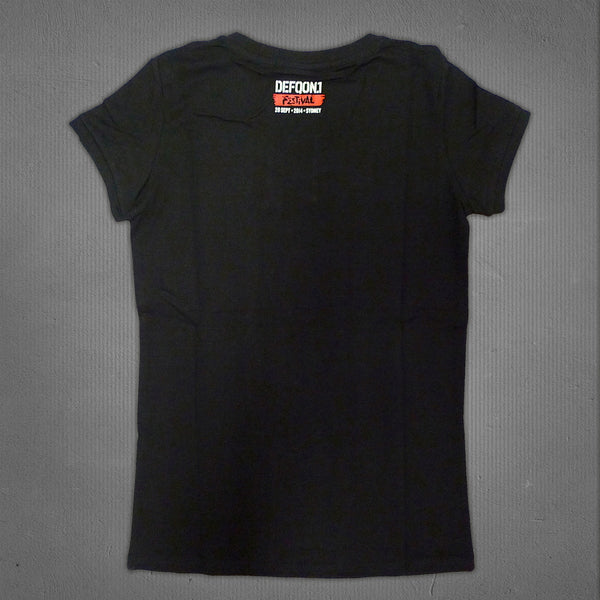 Defqon.1 tiger t-shirt black, women