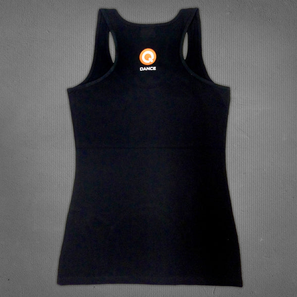 Q-dance tank top black crown, women