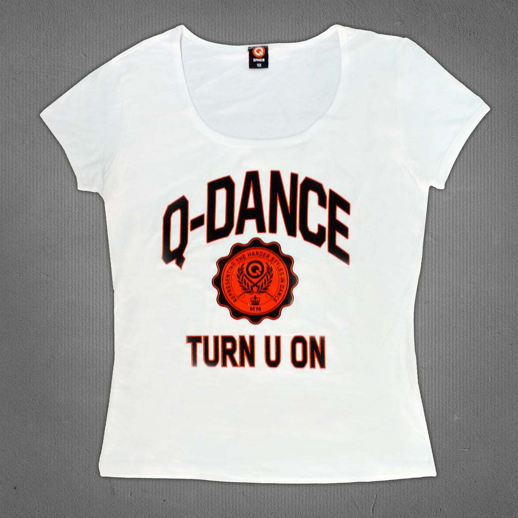 Q-dance t-shirt white, women