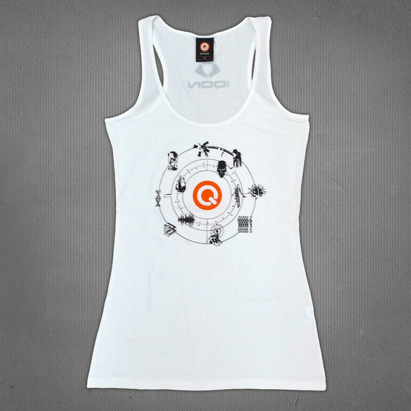 IQON icons tank top white, women