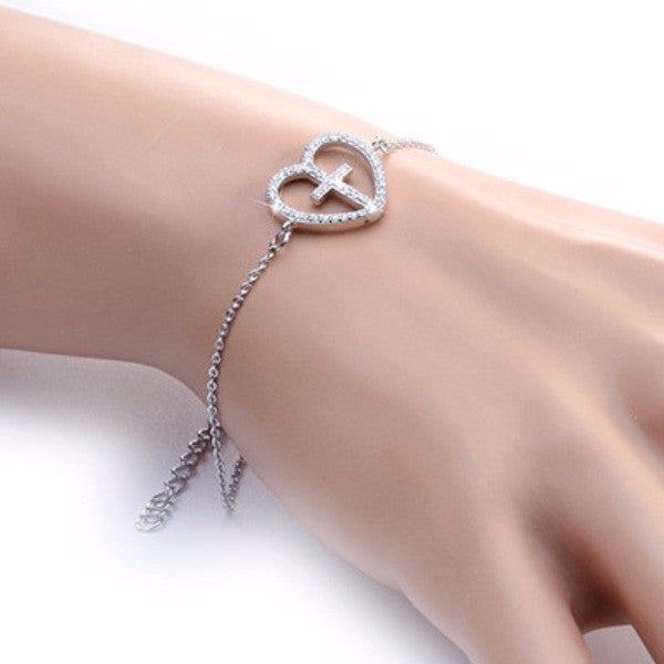 CROSS MY HEART BRACELET