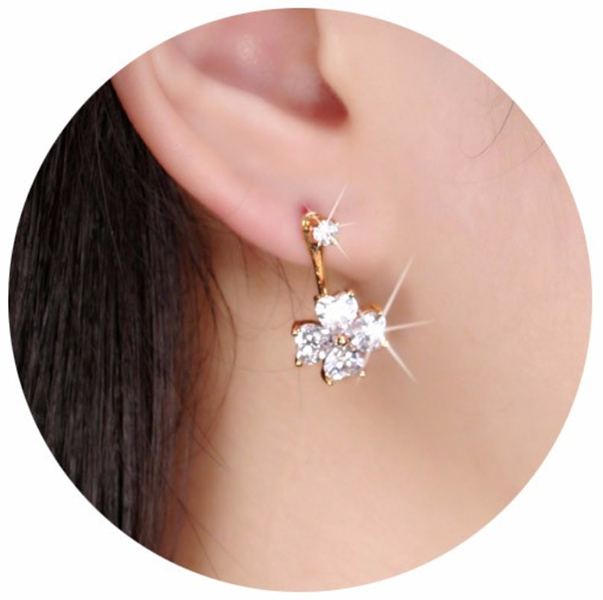 earrings diamond yellow stud art gold drop angel