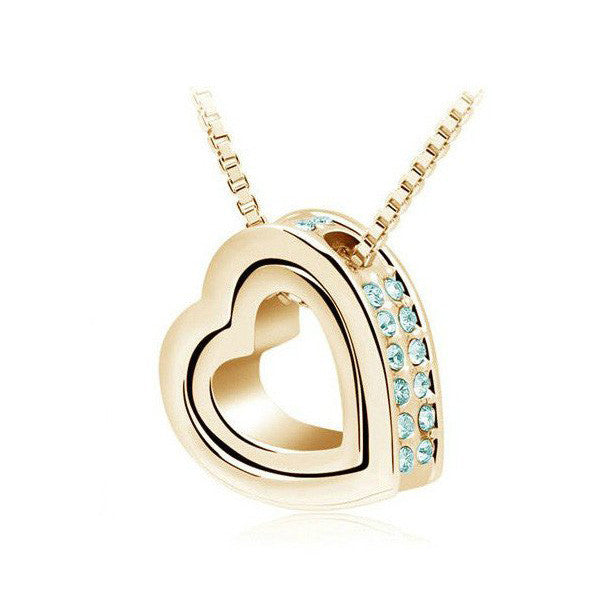 HEARTS IN LOVE CRYSTAL NECKLACE