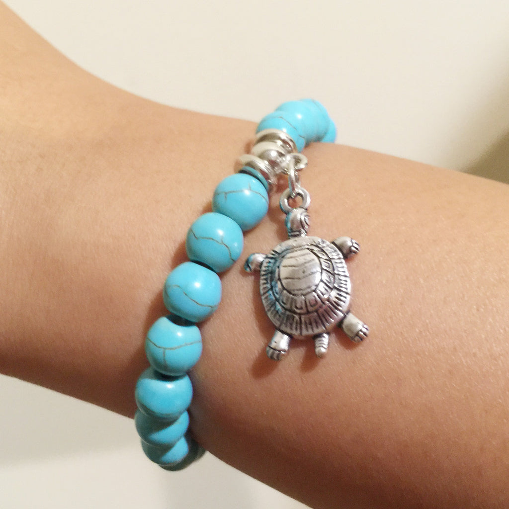 TURTLE LOVERS TURQUOISE BEADS BRACELET