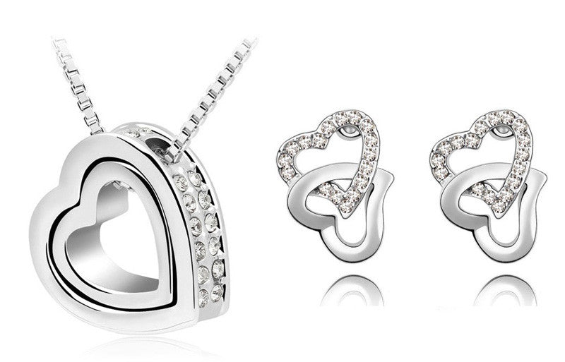 HEARTS IN LOVE CRYSTAL JEWELRY SET