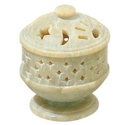 Soapstone Cone Incense Burners - 8 Different Designs