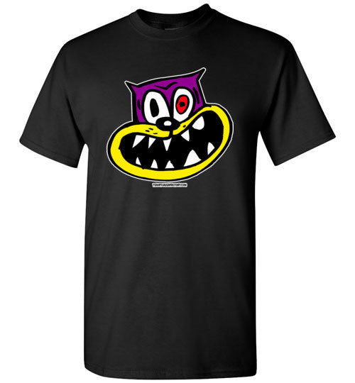 Cat with Crazy Look T-shirt - TShirtLaughFactory.com