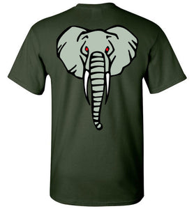 Elephant Head T-shirt on back - TShirtLaughFactory.com