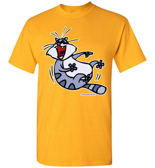 Cat ROF Laughing T-shirt - TShirtLaughFactory.com