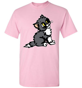 Cute Kitten Looking Up T-shirt - TShirtLaughFactory.com