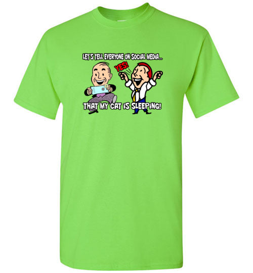 Social Media Cat Posts T-shirt - TShirtLaughFactory.com