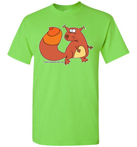 Cautious Squirrel T-shirt - TShirtLaughFactory.com