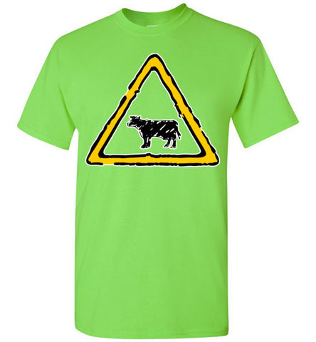 Caution Cattle Crossing T-shirt - TShirtLaughFactory.com