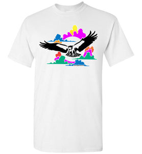 American Eagle in the Clouds T-shirt - TShirtLaughFactory.com