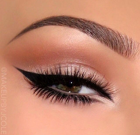 eye shadow and eyeliner and mascara