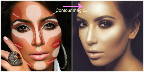 Kim Kardisian Contouring - How to contour and highlight