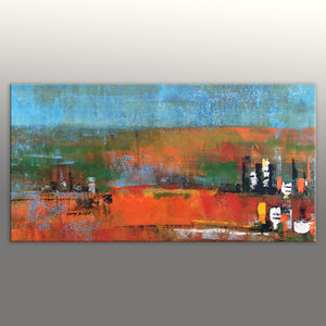 Abstract Oil Painting, Abstract Canvas Painting, Contemporary Art, Large Landscape Painting, Large Oil Painting, Canvas Wall Decor