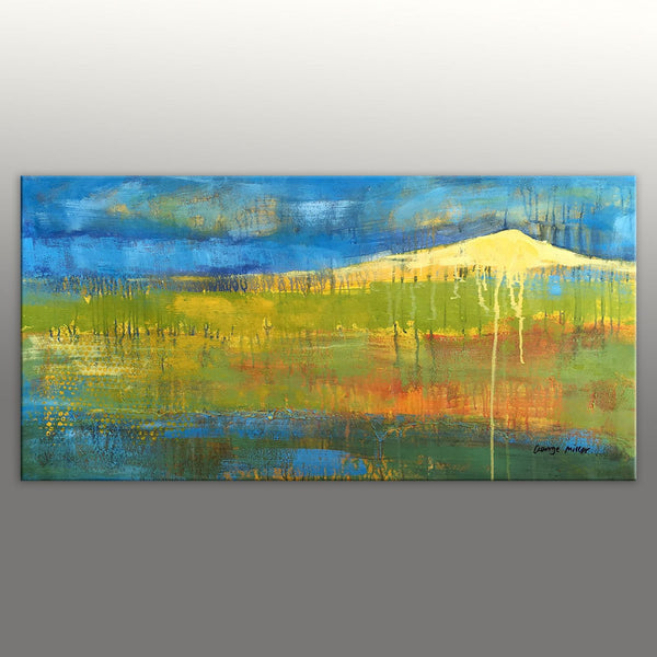 Rustic Living Room Decor, Large Canvas Painting, Abstract Landscape Painting, Abstract Art, Contemporary Art, Abstract Canvas Art