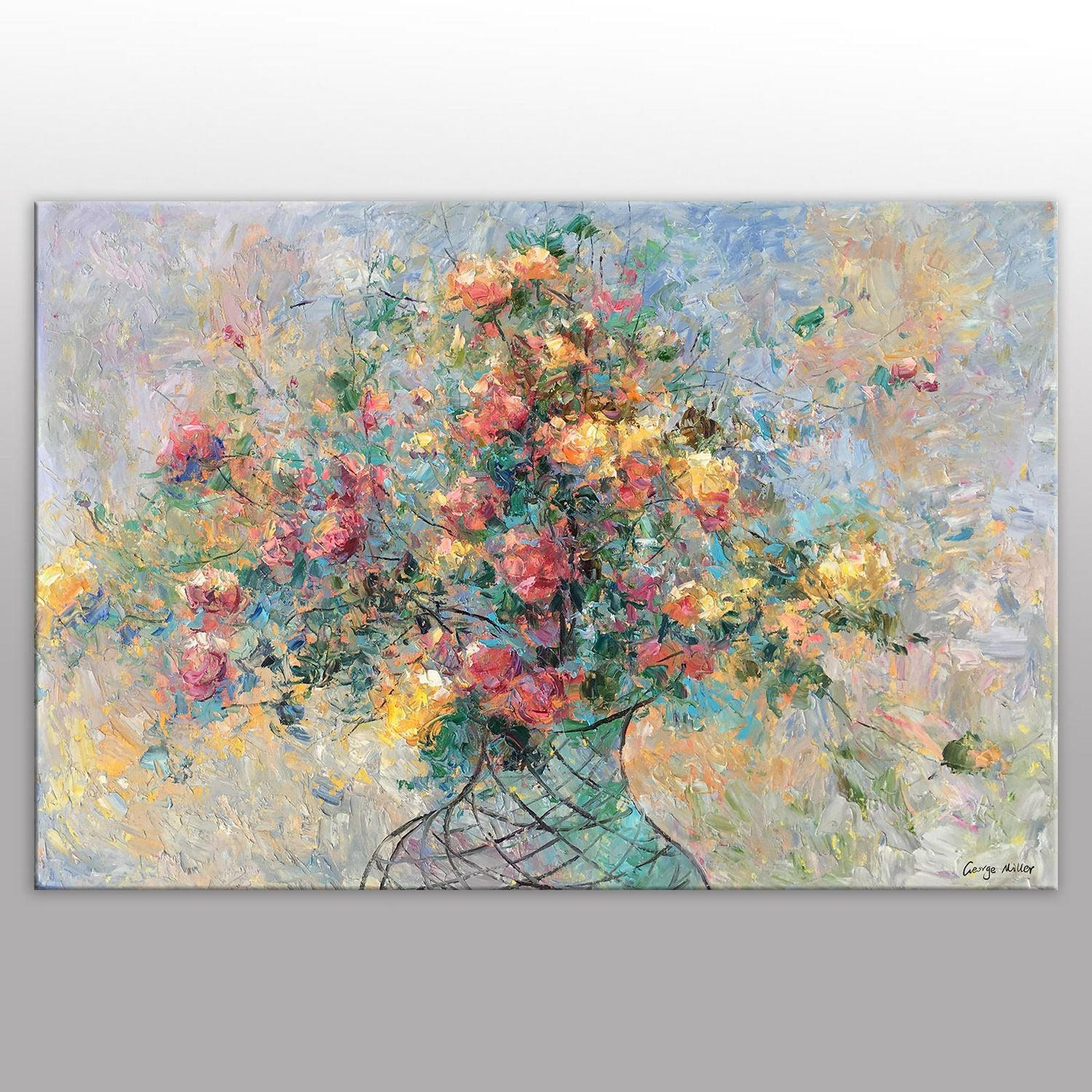 Flower Painting, Floral Art, Original Painting, Bedroom Wall Decor, Abstract Wall Art, Large Oil Painting, Canvas Painting, Modern Art
