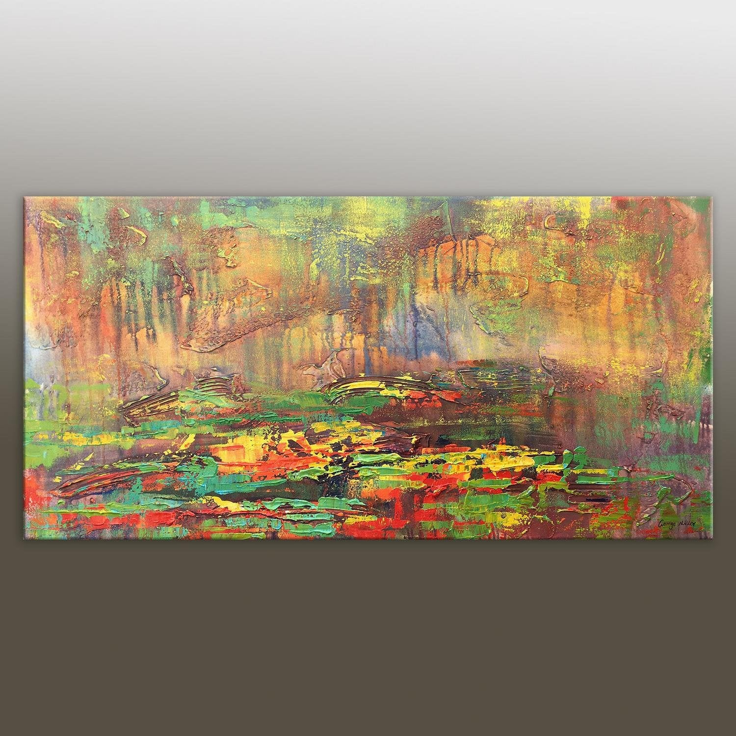 Canvas Art, Large Painting, Contemporary Painting, Large Wall Art, Original Landscape Oil Paintings, Living Room Decor, Abstract Painting