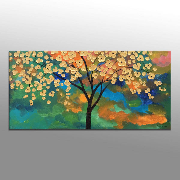 Flower Painting, Canvas Painting, Tree Art, Living Room Wall Decor, Abstract Oil Painting, Oil Painting Original, Canvas Art, Wall Art