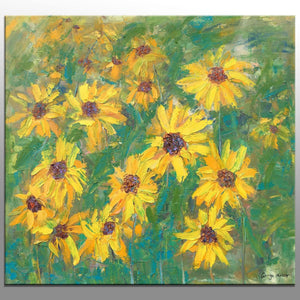 Oil Painting Original Sunflowers Painting Modern Wall Art Canvas Painting Floral Art Abstract Oil Painting Large Canvas Painting Sunflower
