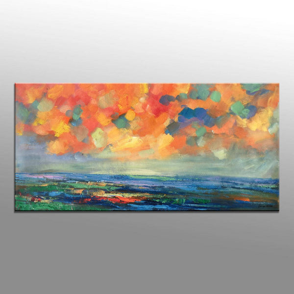 Contemporary Painting, Original Landscape Painting, Abstract Oil Painting, Original Art, Kitchen Decor, Abstract Canvas Art, Large Art