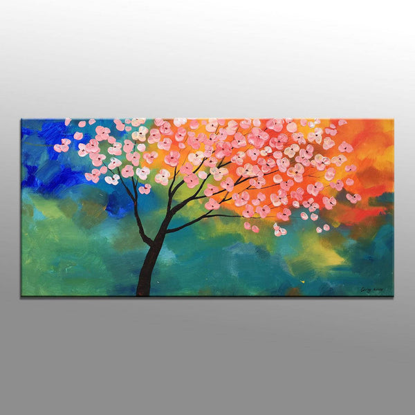 Tree Wall Art Large Abstract Art Original Abstract Painting Contemporary Painting Abstract Flower Art Modern Wall Art Oil Painting Abstract
