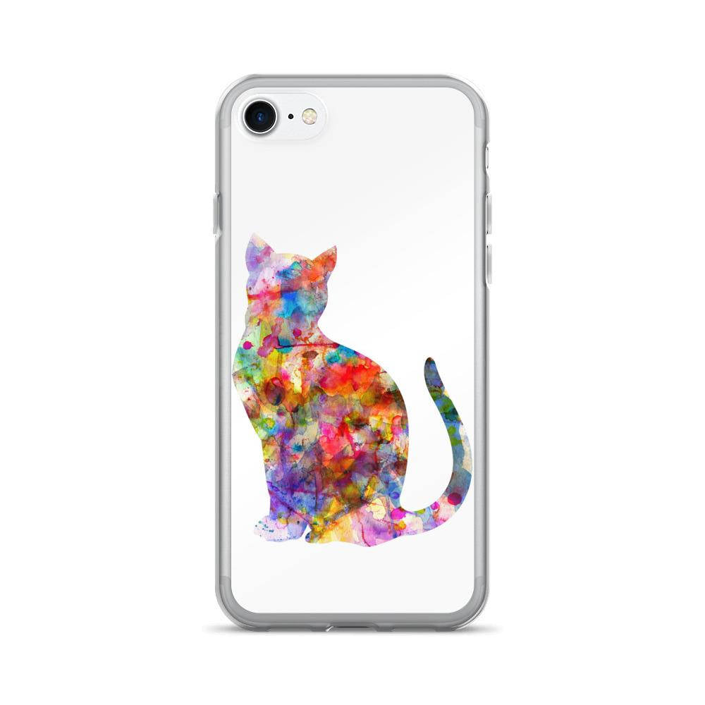 iPhone X Case, Abstract Cat iPhone Case, iPhone 6/6s, 6/6s Plus Case, iPhone 7 Case, iPhone 7 Plus Case, iPhone 8 Case, iPhone 8 Plus Case