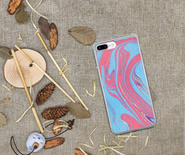 Abstract iPhone 6 Plus Case, iPhone 6s Plus Case, iPhone 6 Case, iPhone 6s Case, iPhone 7 Case, iPhone 8 Case, Red and Blue iPhone X Case