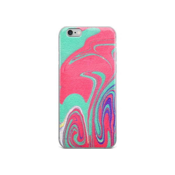 iPhone 8 Case, iPhone 8 Plus Case, iPhone 7 Plus Case, iPhone 7 Case, iPhone 6/6s Case, iPhone 6 Plus, Red and Green Abstract iPhone X Case