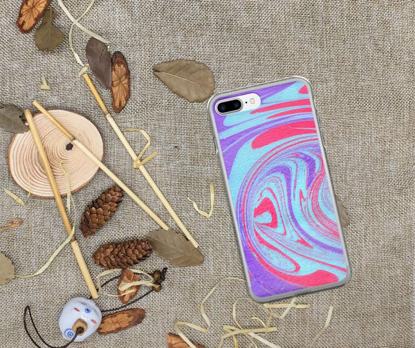 iPhone X Case, iPhone 8 Case, iPhone 8 Plus Case, Phone 6/6s Case, iPhone 6 Plus/6s Plus Case, iPhone 7 Case, Purple iPhone X Case Abstract