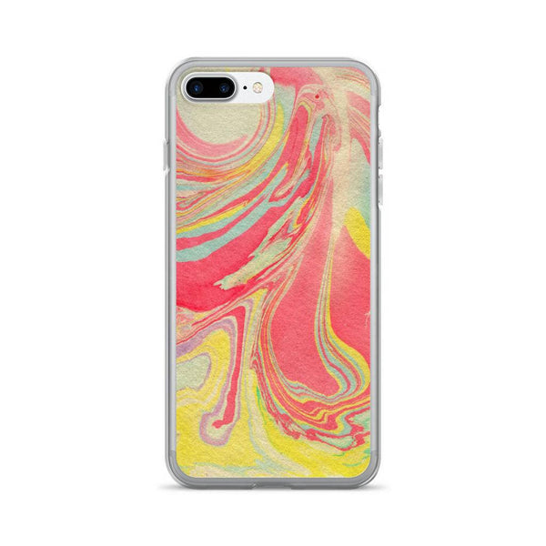iPhone X Case, Abstract iPhone X Case, iPhone 6/6s Case, iPhone 6 Plus/6s Plus Case, iPhone 7/7 Plus Case, iPhone 8/8 Plus Case, Yellow Red