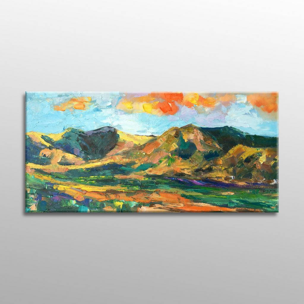 Landscape Oil Painting, Mountain Painting, Large Painting, Modern Art, Contemporary Wall Art, Abstract Painting, Abstract Canvas Painting