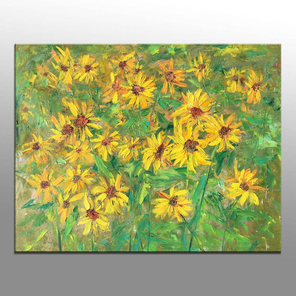 Flower Oil Painting, Large Abstract Painting, Modern Painting, Abstract Canvas Painting, Modern Wall Art, Floral Art, Living Room Art