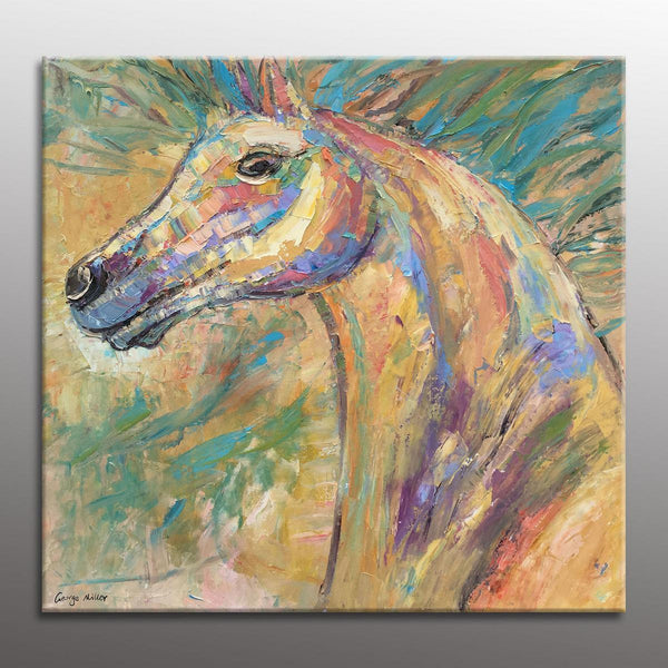 Oil Painting, Contemporary Art, Horse Artwork, Original Abstract Painting, Abstract Canvas Art, Abstract Art, Large Painting,Wall Decor