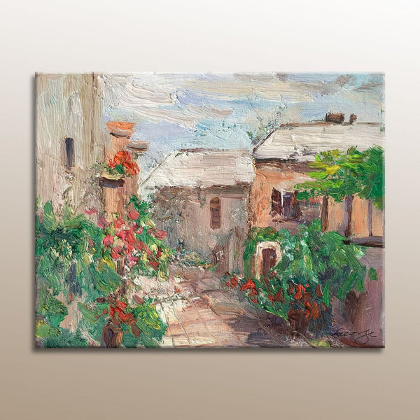 Oil Painting, Village in Spring, Canvas Art, Original Landscape Painting, Original Art, Contemporary Painting, Oil Painting, Wall Decor