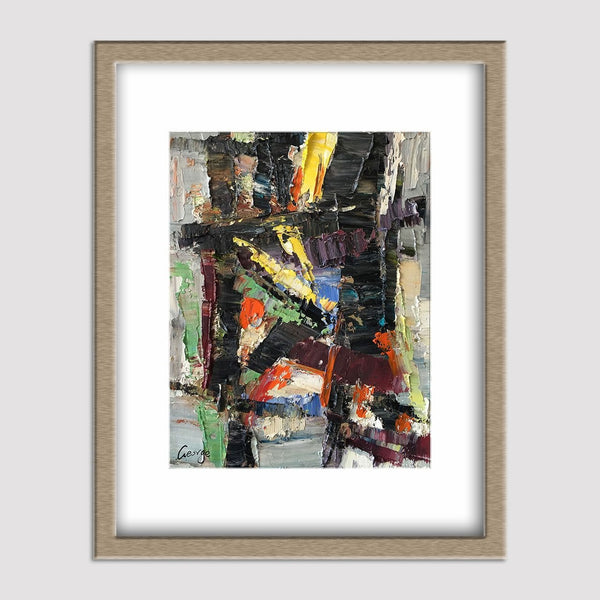 Abstract Painting, Oil Painting, Modern Art, Original Abstract Art, Bathroom Art, Canvas Wall Decor, Painting Abstract, Black and White
