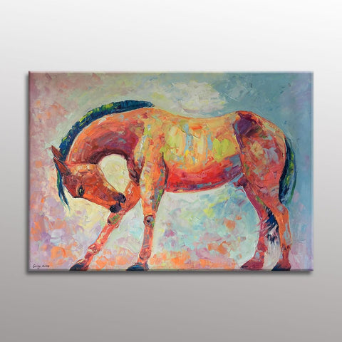 Horse Art, Canvas Art, Large Painting, Living Room Wall Decor, Large Wall Art Canvas, Modern Painting, Oil Painting Abstract, Original Art
