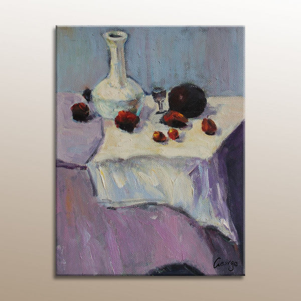 Oil Painting Still Life, Canvas Painting, Abstract Art, Original Oil Painting, Small Oil Painting, Canvas Wall Art, Still Life Painting