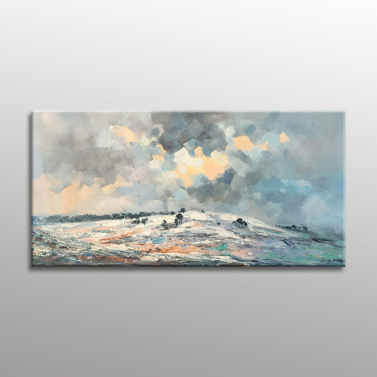 Large Oil Painting Canvas Painting Bathroom Wall Decor Abstract Oil Pa Georgemillerart