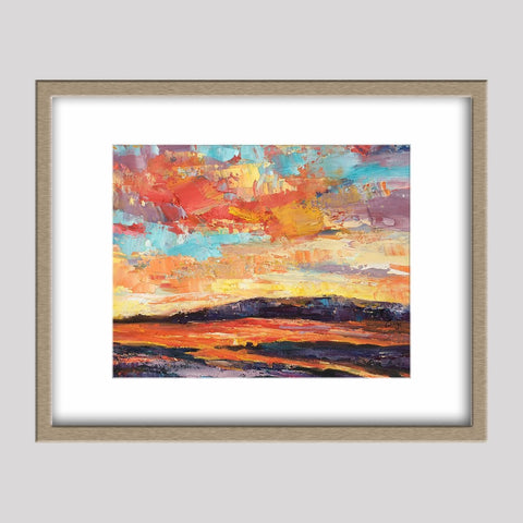 Oil Painting Skyscape at Dawn, Abstract Canvas Art, Contemporary Art, Small Oil Painting, Original Oil Painting Landscape, Abstract Painting