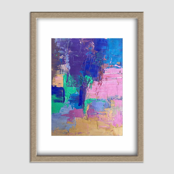 Abstract Canvas Painting, Extra Small Wall Art, Small Art, Modern Painting, Abstract Painting, Bathroom Sign, Original Abstract Painting